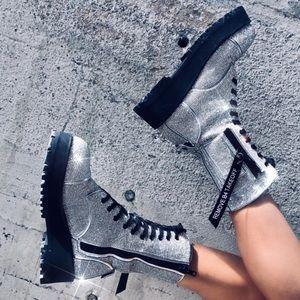 dolls kill x poster girl billionaire bling boots